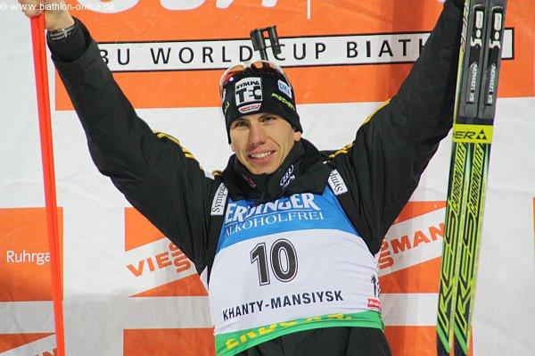 Biathlon in Oberhof: Arnd Peiffer wird Zweiter, Denise