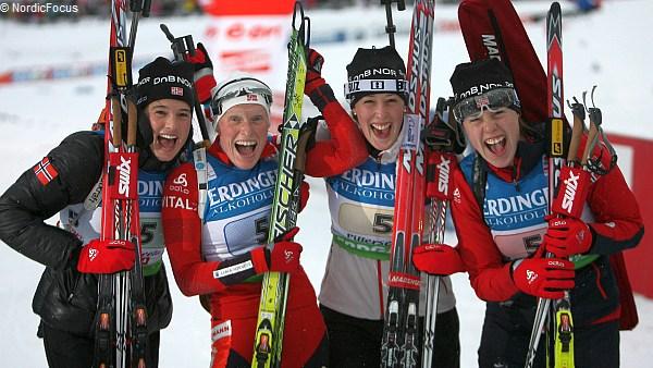 Die norwegische Staffel auf Rang drei