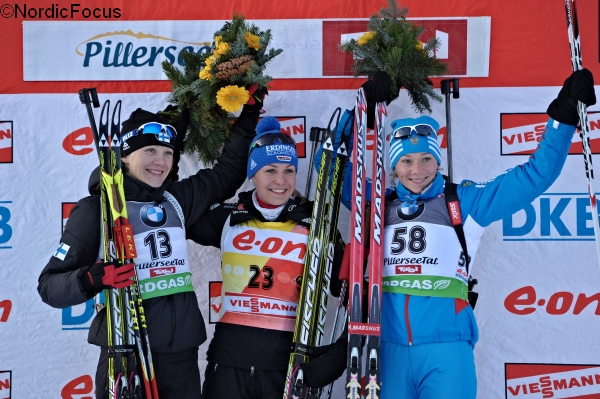 podium sprint frauen