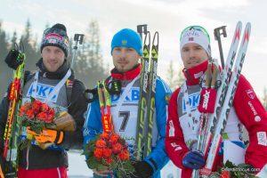 Dominik Landertinger (AUT), Anton Shipulin (RUS), Emil Hegle Svendsen (NOR)
