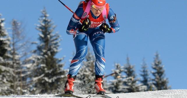Gabi Soukalova gewinnt Sprint in Pokljuka