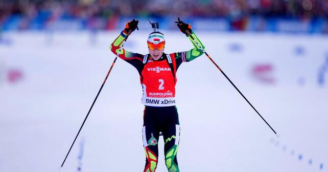 Sieg für Darya Domracheva bei Verfolgung in Antholz