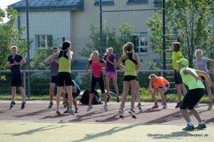 Frühsport mit Manuela Henkel - Kati Camp 2015 - Oberhof