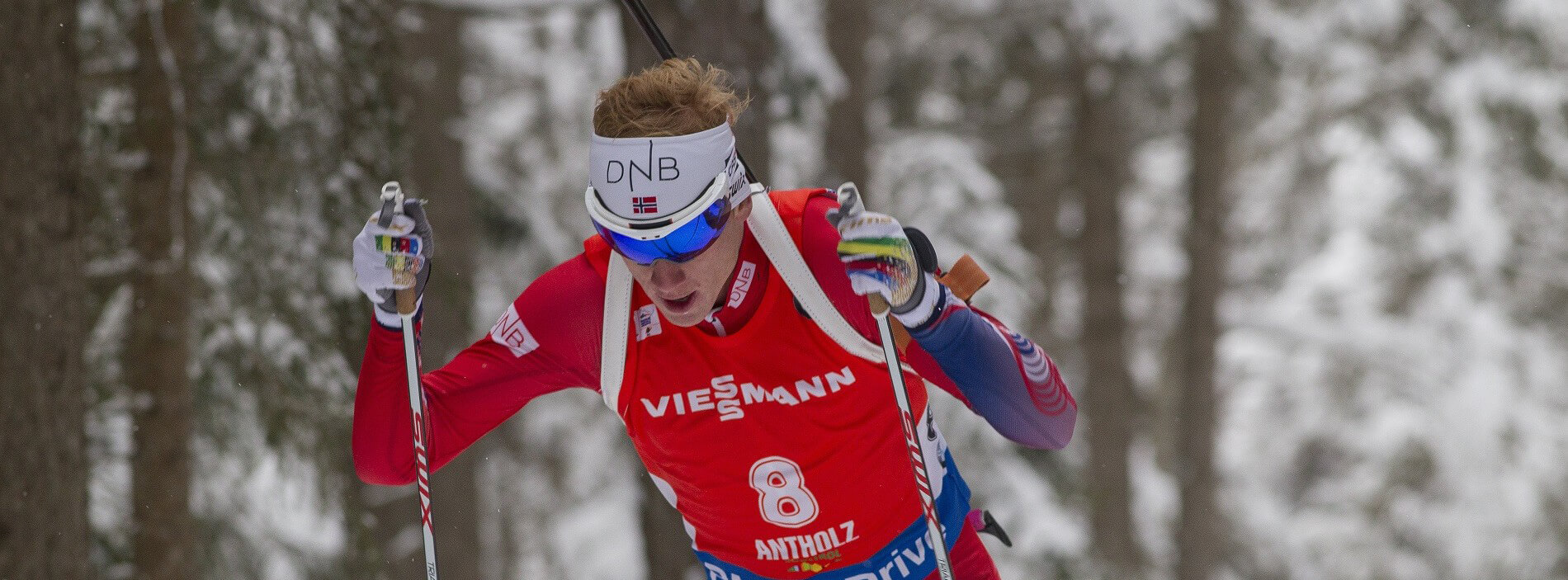 23.01.2016, Antholz, Italy (ITA): Johannes Thingnes Boe (NOR) -  IBU world cup biathlon, pursuit men, Antholz (ITA). www.nordicfocus.com. © Manzoni/NordicFocus. Every downloaded picture is fee-liable.