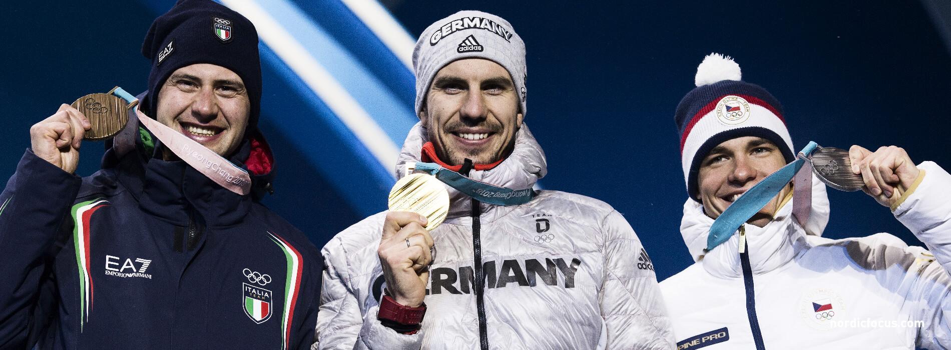 Arnd Peiffer Olympia 2018 Siegerehrung Gold